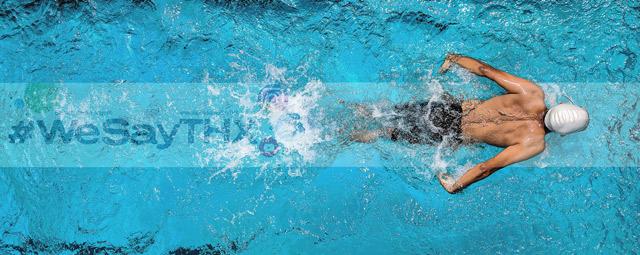Schwimmbad Banner